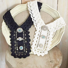 crochet bijoux Collar