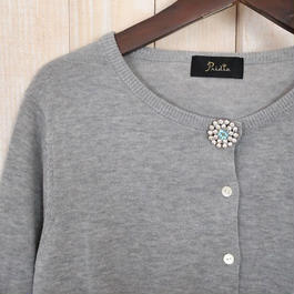 cotton bijou Cardigan grey