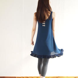 ripple Dress blue navy