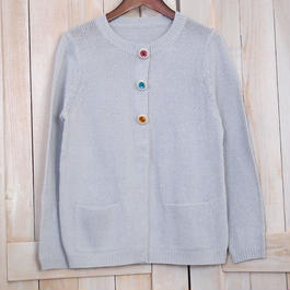 cotton candy bijoux Cardigan pale grey