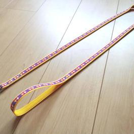 オリジナルリード(黄×赤フラワー)Sサイズ