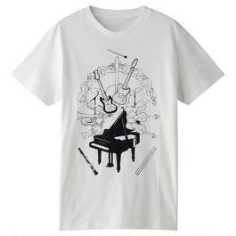 NOW&弦 イラストTシャツ(ホワイト)