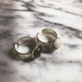 silver925 big stone ring
