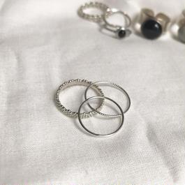 silver925 ring set/ grain