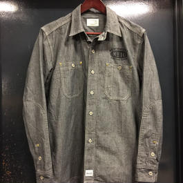REW10 WORK CHAMBRAY RIVETED  SLATE