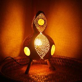ひょうたん灯(月と葉っぱ2)