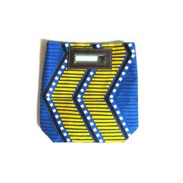 Mini Akello - ブルーの幾何学-(小さめサイズ)