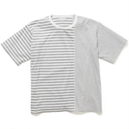 "[good ol]  ""2-Tone Border TEE"" GRAY"