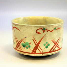 美濃焼 赤絵茶碗