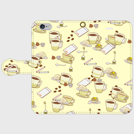 コーヒータイム 手帳型スマホケース