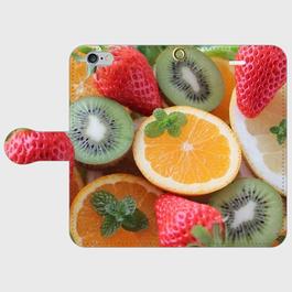 果物3 手帳型スマホケース