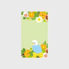 インコと花 モバイルバッテリー