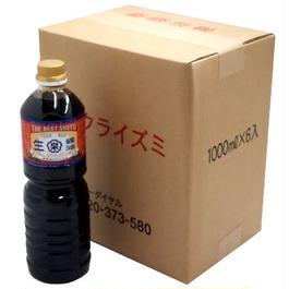 徳用まとめ買い 生醤油(1Lペットボトル×6本セット)