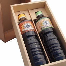 【ギフト】特選醤油セット 濃口醤油・淡口醤油(各1000ml)【箱代含む】