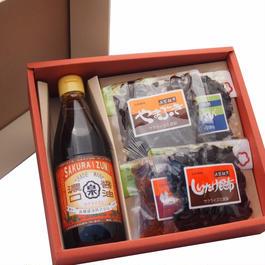 【ギフト】特選醤油佃煮セット 濃口醤油(360ml) ・もろみ・佃煮3種【箱代含む】