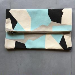 TEMBEA CLUTCH BAG SWEDISH CAMO BLUE/NATURAL