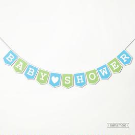 BABY SHOWERガーランド(4色からお選びいただけます)