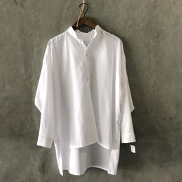 HOUSE OF THE VERY ISLAND'S…  LONG SHIRT(WHITE)