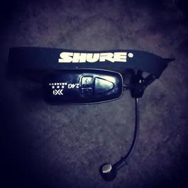SHURE改造一体型2.4Gワイヤレスヘッドセット