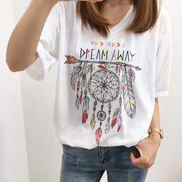 【送料無料】ドリームキャッチャープリントTシャツ