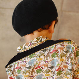 liberty piping shirt/aminals(S 100cm)