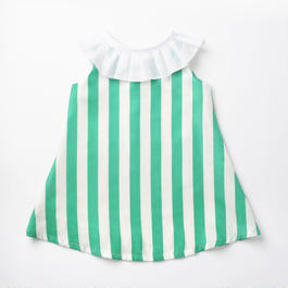 Summer pierrot/green stripe