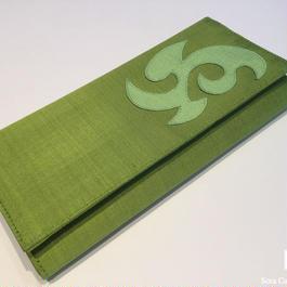 ソウタカンボジアシルク シルク財布 財布 アジアン財布 ハンドメイド グリーン 夏ファッション おしゃれ メンズファッション 軽い財布
