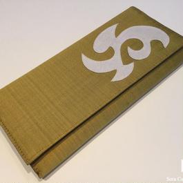 ソウタカンボジアシルク カンボジアシルク財布 シルク財布 ハンドメイド メンズファッション おしゃれ ゴールド シルク雑貨 シルクショップ