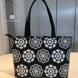 ソウタカンボジアシルク カンボジアシルクバッグ シルクバッグ バッグ ハンドメイド ファッション ブラック アジアンバッグ アジアン雑貨 アジアンショップ シルクショップ