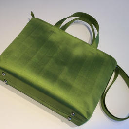 ソウタカンボジアシルク カンボジアシルクバッグ シルクバッグ バッグ アジアンバッグ  グリーン ファッション ハンドメイド 軽いバッグ アジアン雑貨 シルク雑貨