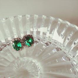 mini bijou  earrings(Emerald Green)