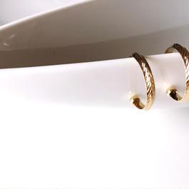 ゴールドリーフデザインイヤリング