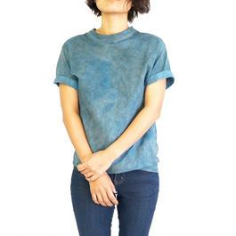 手染めくすみカラーTシャツ  藍染×すす染