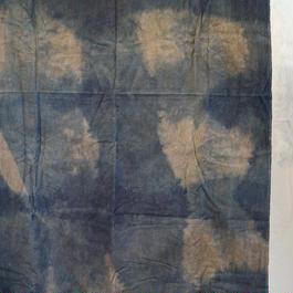 ネル生地  藍染×柿渋(鉄媒染)【10cm単価】