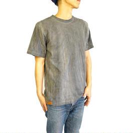 手染めくすみカラーTシャツ  すす染