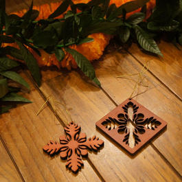 ハワイアン ウッド クリスマスオーナメント ハワイアンキルト