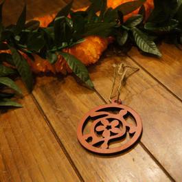 ハワイアン ウッド クリスマスオーナメント ホヌ