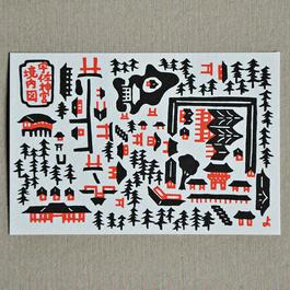 ポストカード|宇佐神宮境内図