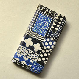 iPhone7用ケース 手帳型|花布
