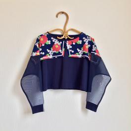 夏に着る長袖Tシャツ / 大きい花柄