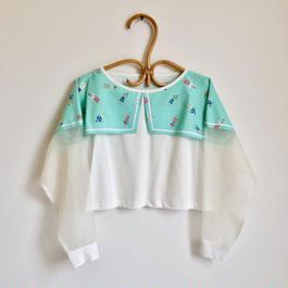 夏に着る長袖Tシャツ / グリーン