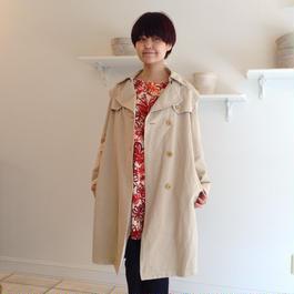 綿麻ロングコート