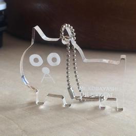 猫の小林さんのアクリルキーホルダー