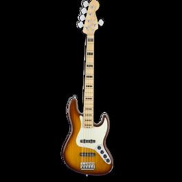 Fender American Elite Jazz Bass® V/Ash /Maple/ Tobacco Burst ( 0885978656004 )