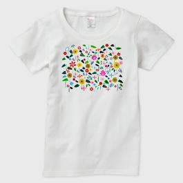 受注制作*Tシャツ/花 レディース otanitaro.com