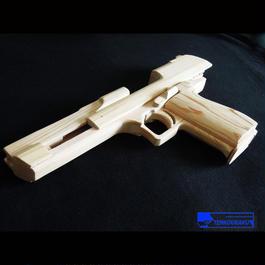 ブローバックする輪ゴム銃製作解説書PDF・デザートイーグルタイプ