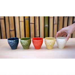 湯呑み/フリーカップ(各5色)切り紙作家 矢口加奈子