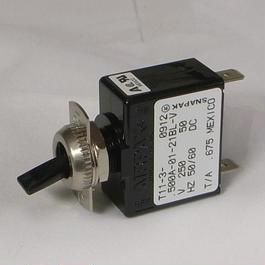 Circuit breaker switch for PLS153 power supply