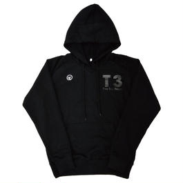 【TRESJAPAN】T3 ラグランフーディ(ブラック)
