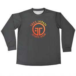 NEW!!【TRESJAPAN】イージードライロングTシャツ(チャコールグレー)サンセット